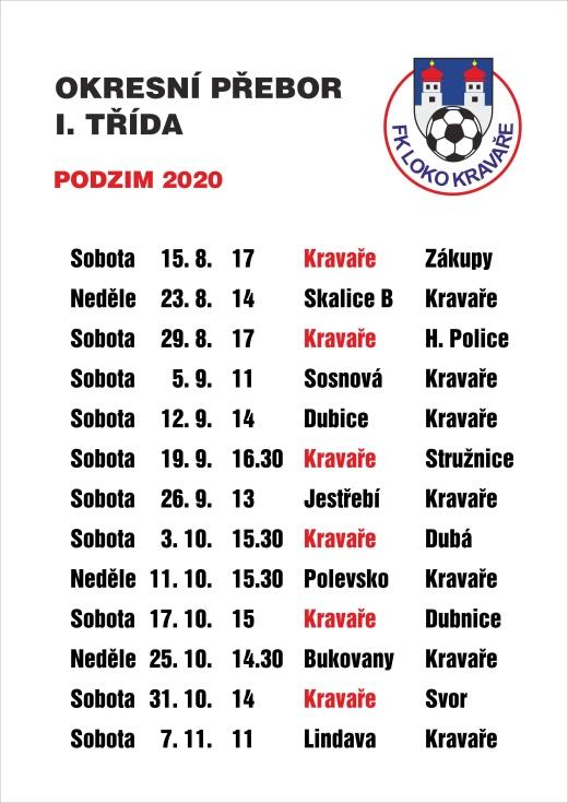 Fotbal podzim 2020